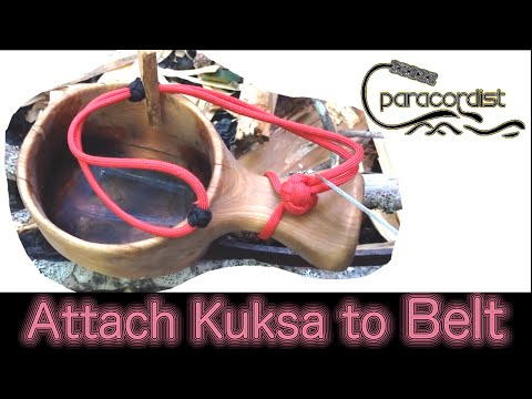 Paracordist How to Attach Kuksa to Belt or Pack with Paracord & Toggle System