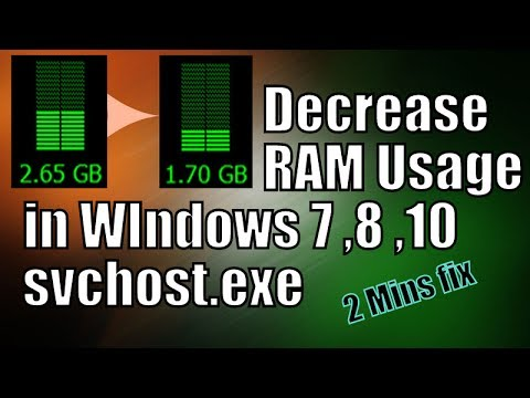 Decrease Ram Usage in WIndows 7,8, 10 in 2 Minutes