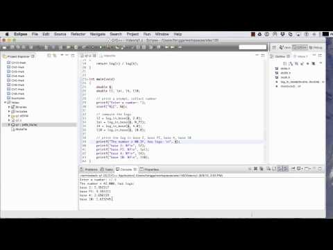 Using Eclipse for C