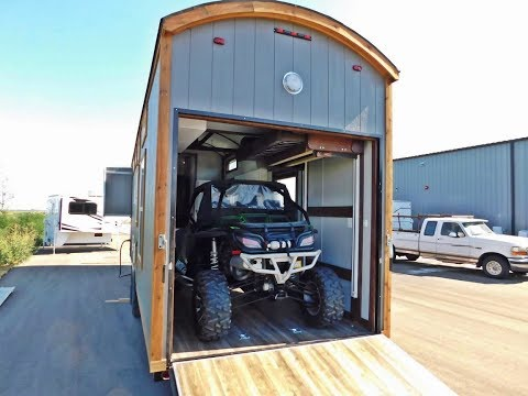 TRICKED OUT TINY HOUSE TOY HAULER