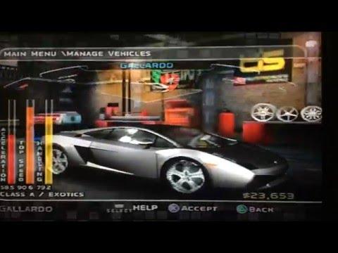 Midnight Club 3: Dub Edition REMIX (PS2) - All Detroit Rivals Cars