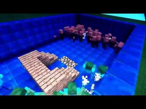 Minecraft pe [mob battle] zombie vs villager