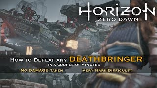 Horizon Zero Dawn - How To Easily Defeat The Final Deathbringer Boss  [ Very Hard ]