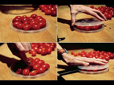 Best Way To Cut Grape Tomatoes - Food Life Hack