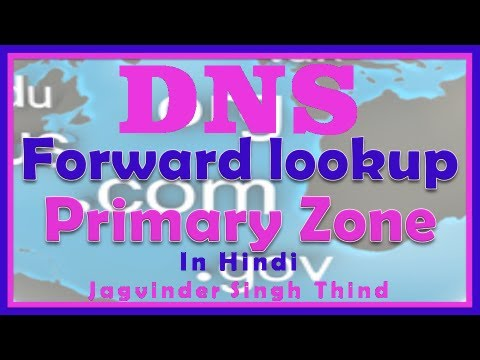 DNS Forward lookup Primary Zone - DNS Server 2008 in Hindi - Part 2