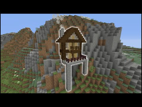 Minecraft Tutorial: How To Make A Cliff House (Biome House)