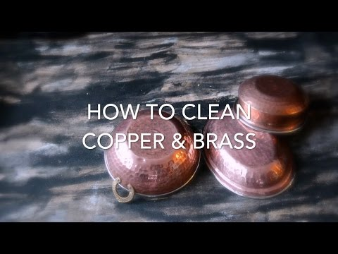 How To Clean Copper & Brass Utensils with Vinegar And Salt - So Easy!
