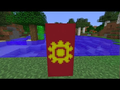 How to make the National Flag of Kyrgyzstan [KGZ]//Minecraft