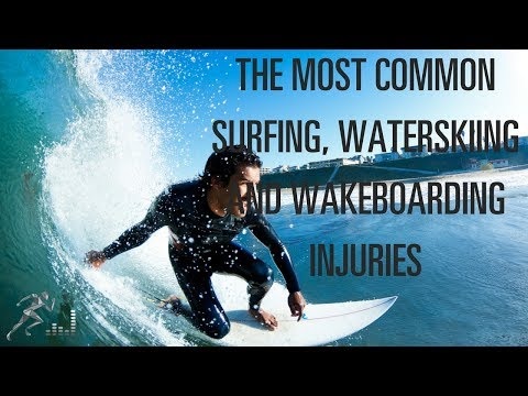 What are the most common water sports injuries?