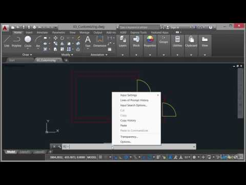AutoCAD: Using the Command Line | Input settings