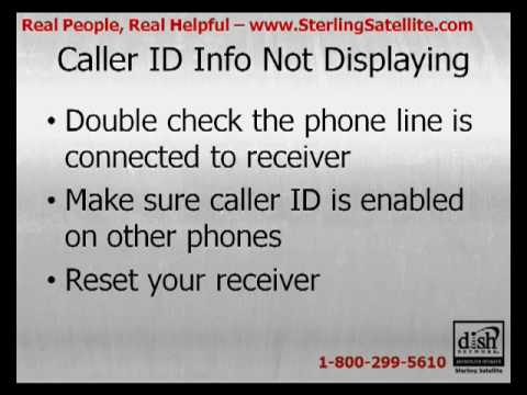 DISH Network Receiver Missing Caller ID Info