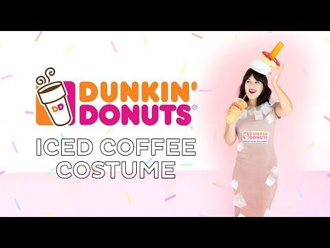 DIY Dunkin' Donuts Iced Coffee Halloween Costume