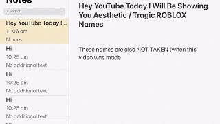 Aesthetic roblox usernames || roseyy