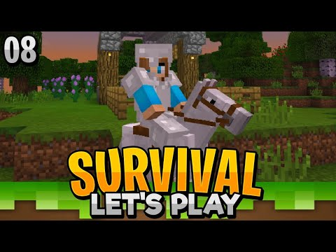 GETTING A HORSE & STARTING A NEW HOME!! - Minecraft Bedrock Survival Let's Play EP.8 (PE WIN10)