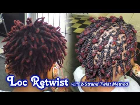 #571 - Loc Retwist with 2-Strand Twist Method | Style Demo