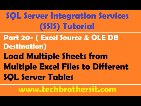 SSIS Tutorial Part 20-Load Multiple Sheets from Multiple Excel Files to Different SQL Server Tables