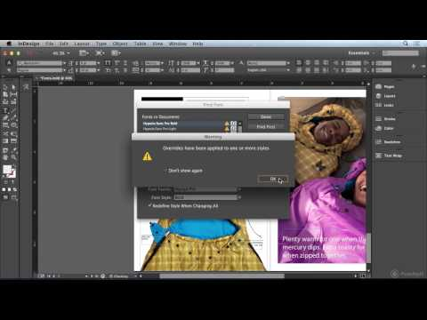 Document Fonts in InDesign CC