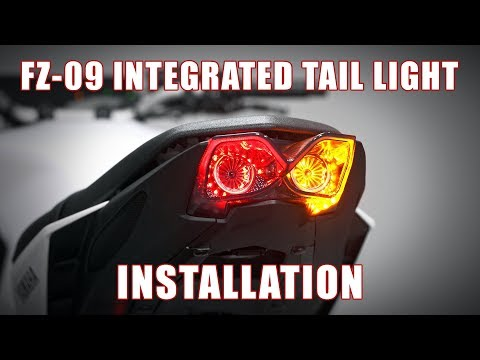 How to install a Programmable Integrated Tail light on a 2017+ Yamaha FZ-09 by TST Industries