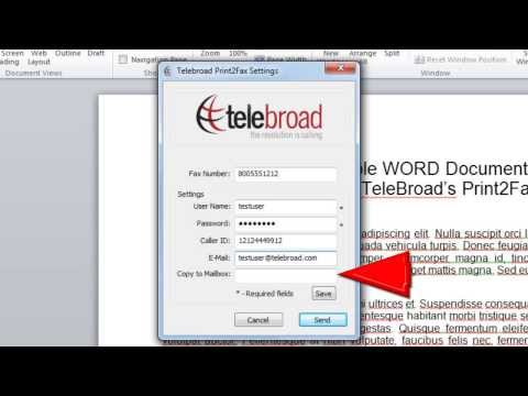 Introducing the TeleBroad Print2Fax | Print to Fax Software