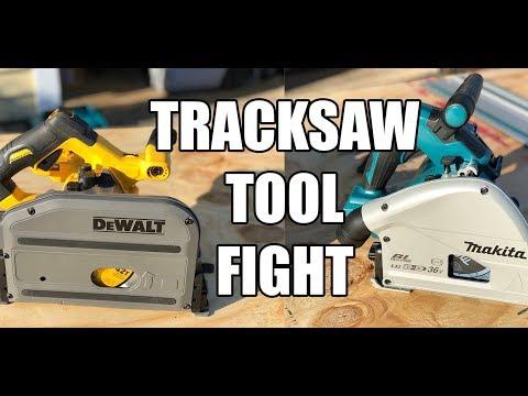 Track Saw Tool Fight DeWALT 60V FLEXVOLT vs Makita 36V