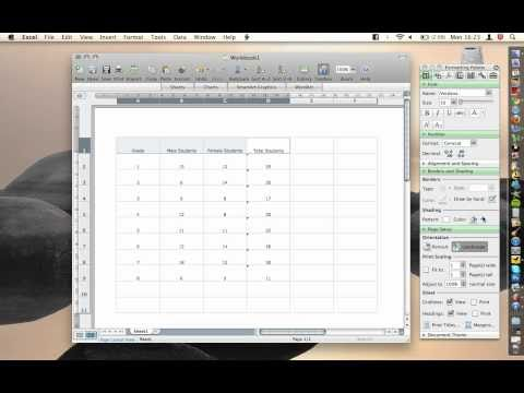 Office For Mac - Excel - Cell Shading