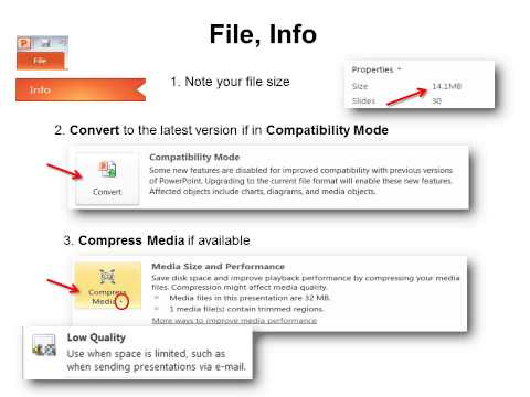 Quick Tips Save Smaller PowerPoint Files