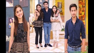 Sajal Ali with her Brother & Sister in Jago Pakistan Jago.