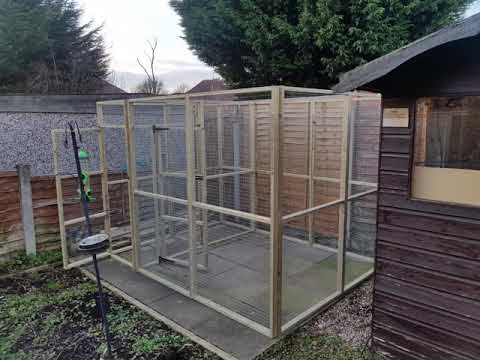 The start of the big aviary build