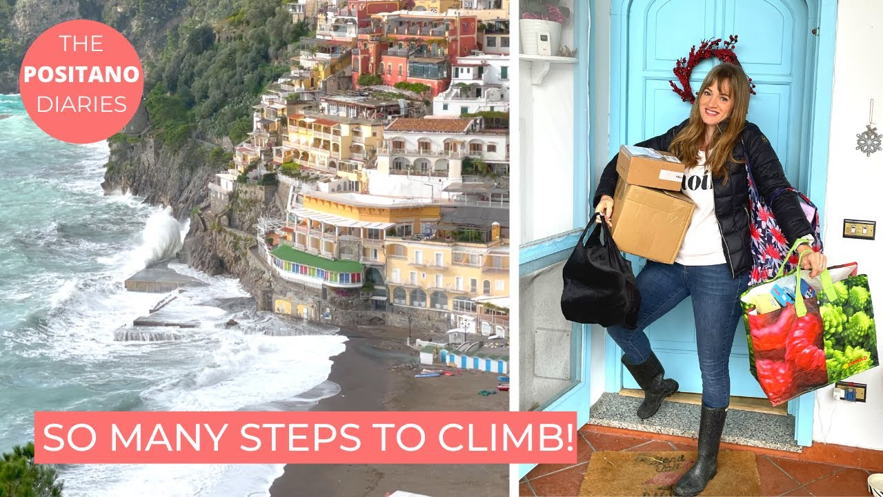 GROCERY SHOPPING IN ITALY   How we cope with 500 steps!  The Positano Diaries EP 71