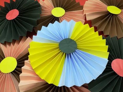 Super Easy Paper Rosette// Backdrop//  Paper Fan For Party Decoration