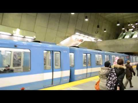 MONTREAL METRO TRAINS / FUNKY RADISSON STATION