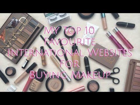 My Top 10 Favourite International Websites For Buying Makeup | SaloniMaathur