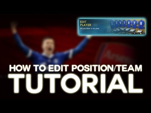 FIFA 14 TUTORIAL: How to Edit Position and Team!