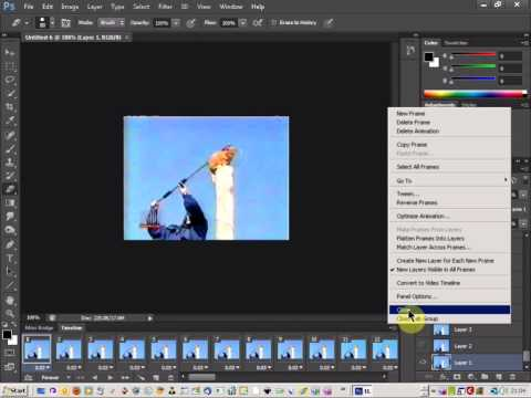 photoshop cs6 tutorial: create animated gif from video clip
