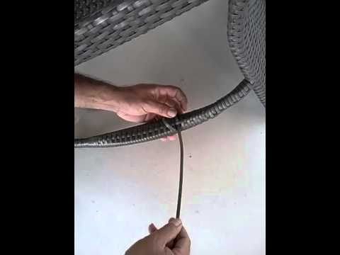 How to repair peel broken on the arm of  wicker chair