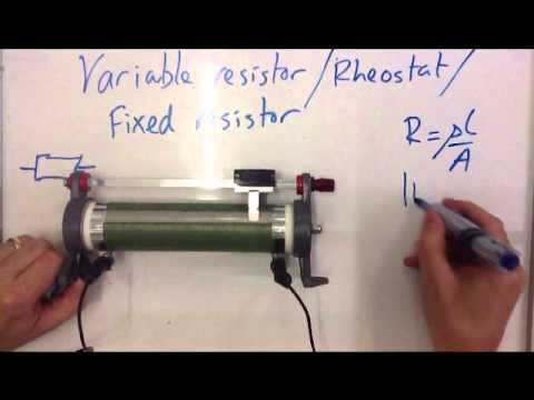Setting Up A Variable Resistor, Rheostat or Fixed Resistory