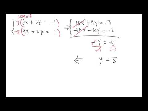 Solve a system of equations! Elimination method, (LCM method)