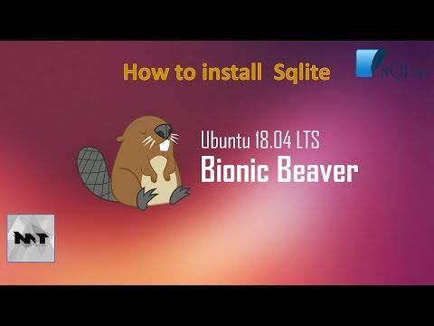 How to install SQlite and SQlitebrowser on Ubuntu 18.04