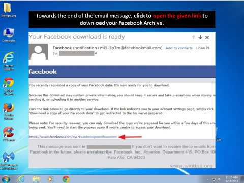 How to Download Facebook Photos, Chat, Messages, Videos, etc.