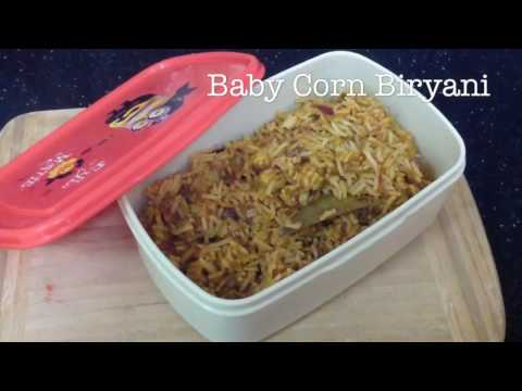 Baby Corn Biryani /Kids lunch box