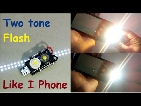 How to make a dual LED Flash Light at home [Very simple] [Like I Phone] totly DIY