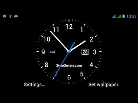 How to set live analog clock on your android