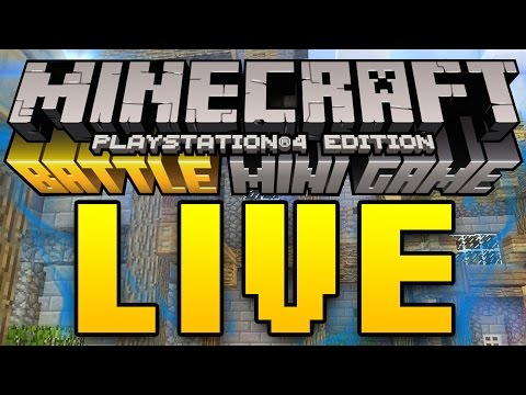 Minecraft PS3, PS4, Xbox, and Wii U - BATTLE MODE PVP MINI-GAMES [LIVESTREAM] (Tips & Tricks)