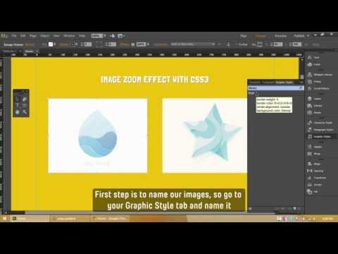 Adobe Muse CC - Image Hover Zoom Effect using CSS3