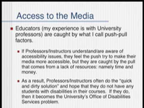 Mobile Learning and Accessibility
