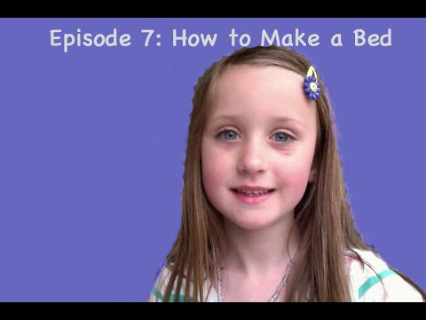 Lily teaches kids to make the bed: Episode 7