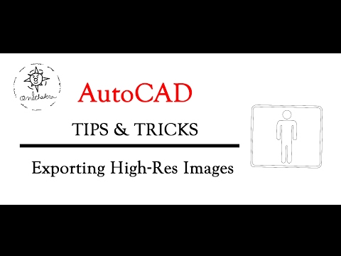 AutoCAD Tips & Tricks | Export PNG TGA TIFF images of 2D Drawings