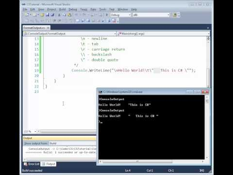 C# Formatting Output with Write() and WriteLine()