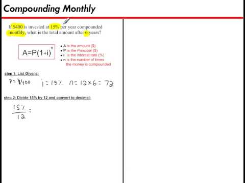 Compounding Monthly