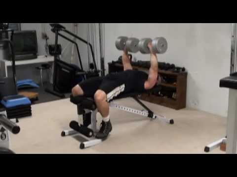 Flat Dumbell Bench Press - How to get the Dumbells into Position Safely and Easily